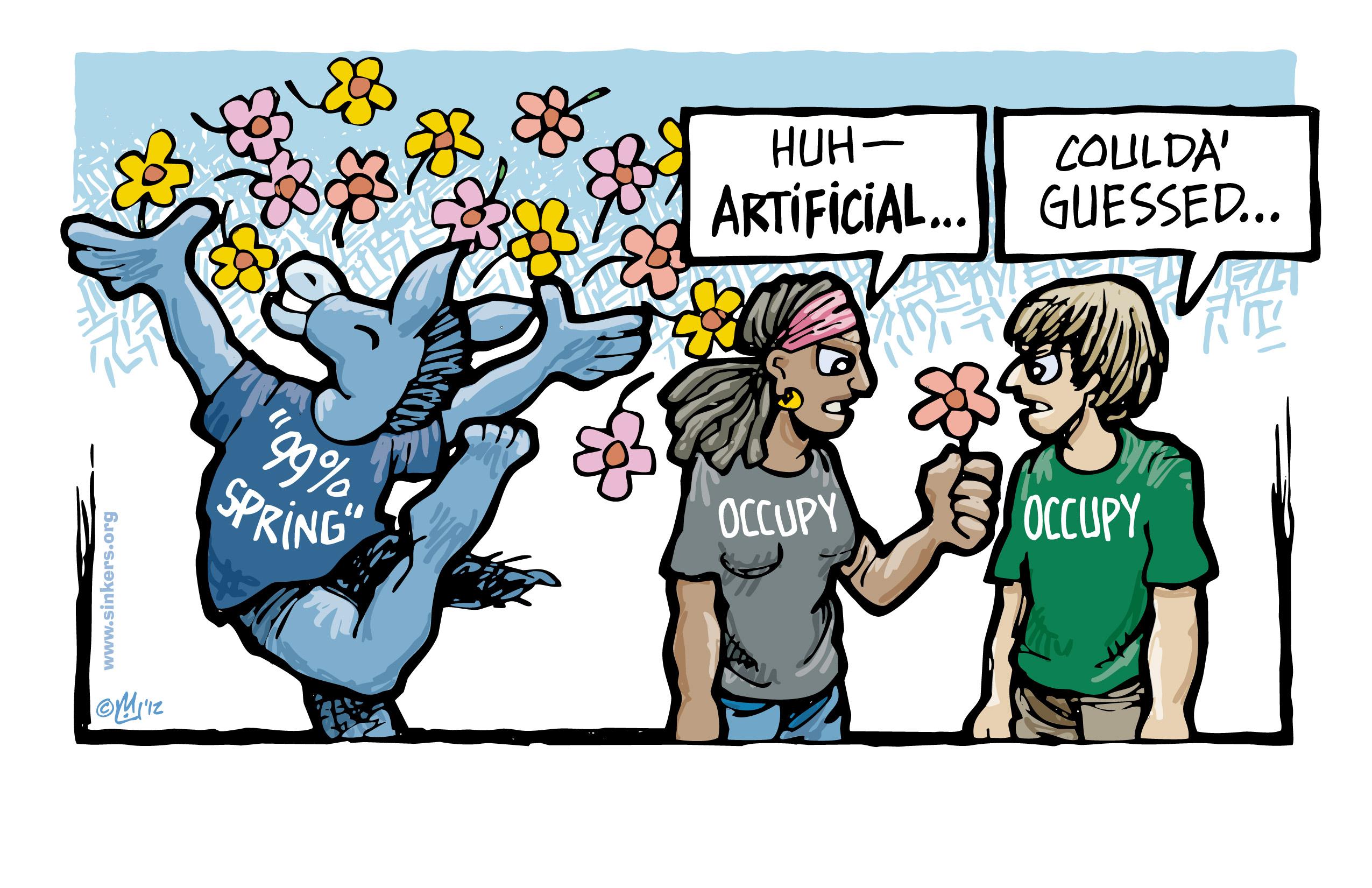 Mike Flugennock: Political Cartoons » 99% Spring