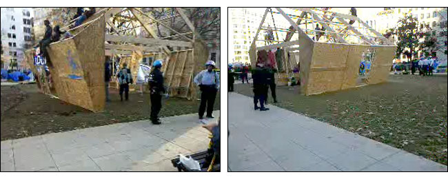 Images via OccupyDC streaming video feed.